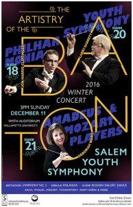 Salem Youth Symphony Winter Concert Poster