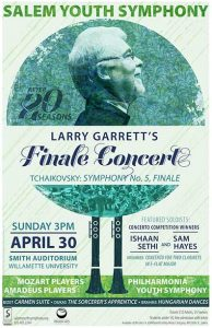 Spring Concert Poster: Larry Garrett's Finale Concert